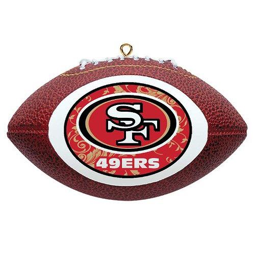 49ers Replica Football Ornament