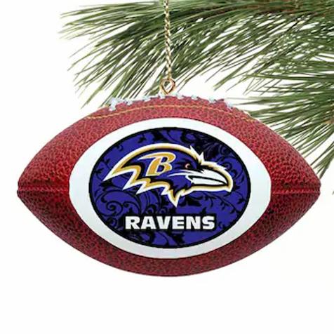 Ravens Replica Football Ornament
