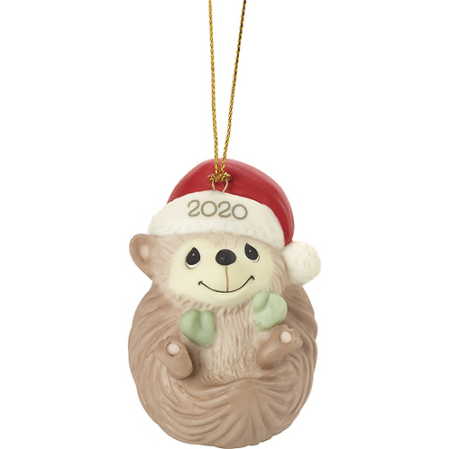 Sending Hedge Hugs 2020 Dated Animal Ornament