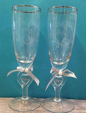 Precious Moments Wedding Toasting Glasses