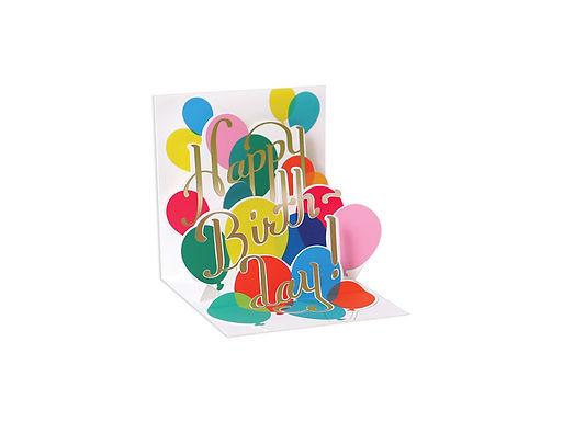Happy Birthday Balloons ..... Mini Pop-Up 3D Birthday Card