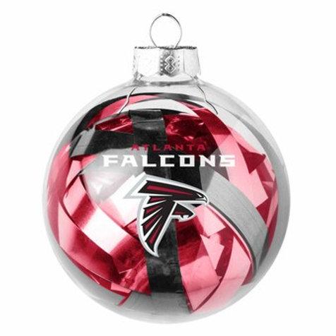 Falcons Tinsel Ball Ornament