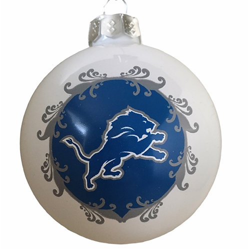 Lions Large Glass Ball Ornament