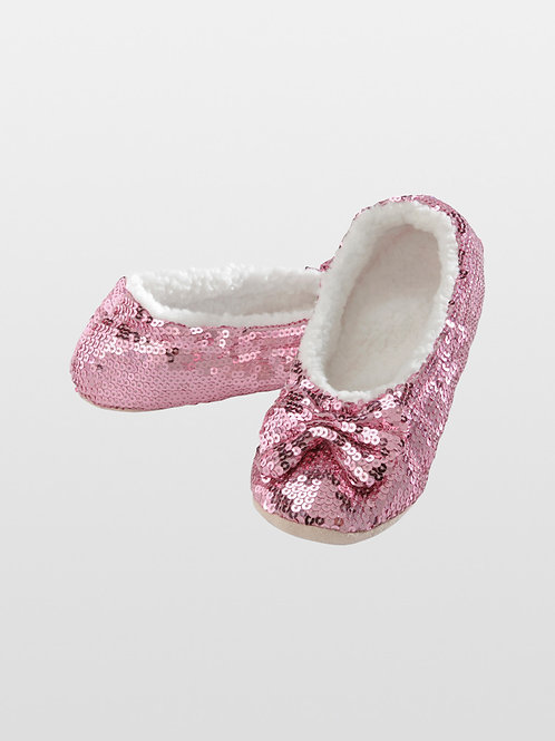 Snoozies Size Womens Large - Classic Pink Bling       179-32