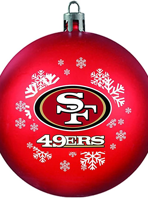 49ers Shatter-Proof Ball Ornament