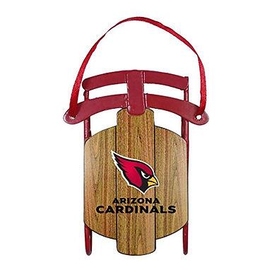 Cardinals Metal Sled Ornament