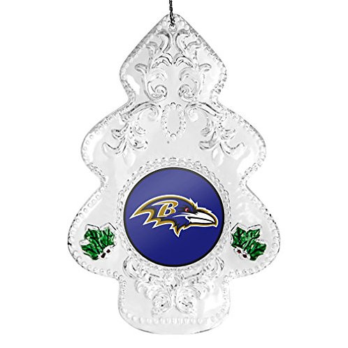 Ravens Acylic Tree - Cut Crystal Design Ornament