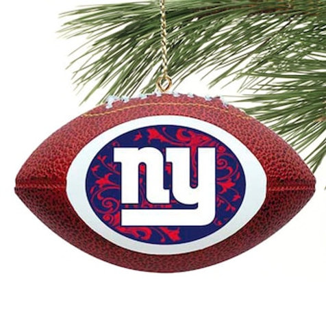 Giants Replica Football Ornament