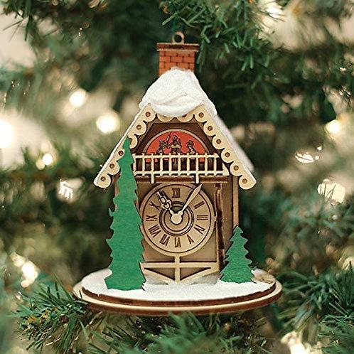 Alpine Time Clock Shoppe ..... Ginger Cottages Figurine / Ornament