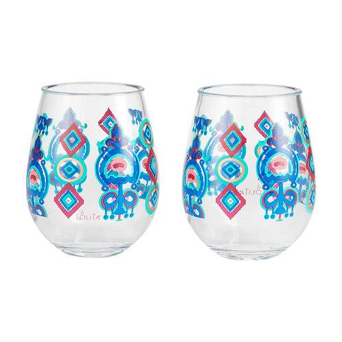 Flying Carpet Acrylic Wine Glass Set