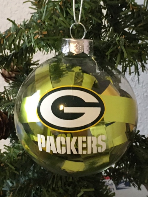 Packers Tinsel Ball Ornament