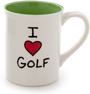 "16oz ..... Our Name is Mud ""I  Love (heart) Golf"" Stoneware Mug"