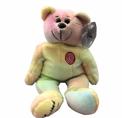Plush Classic Collecticritter Limited Edition Bear .....Tye-dye Shirley Temple