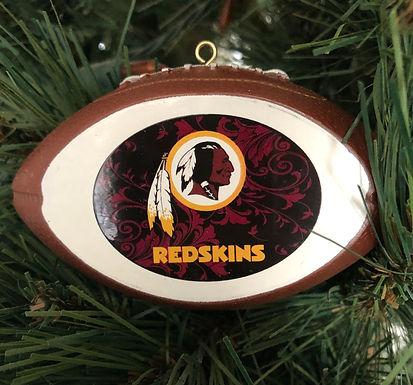 Redskins Acylic Tree - Cut Crystal Design Ornament