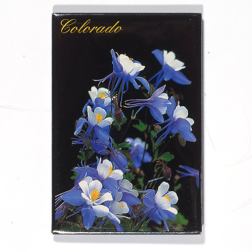 Colorado Magnet ..... Columbines on Black