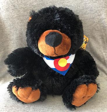 Black Bear Wildlife Critter with a Colorado Flag Bandana     -      GFT0584
