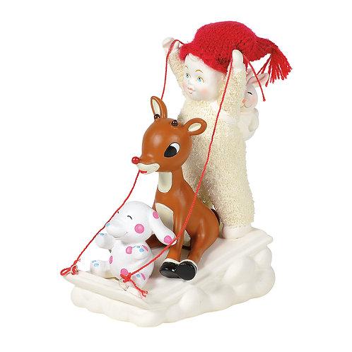 Sledding with Rudolph
