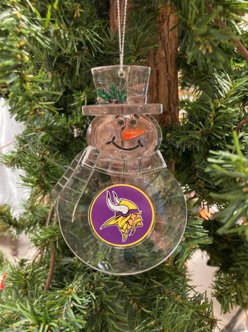 Vikings Acylic Snowman - Cut Crystal Design Ornament