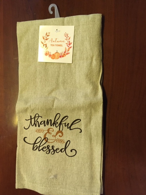 Thankful & Blessed ..... Bistro Towel
