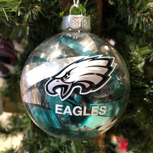 Eagles Tinsel Ball Ornament