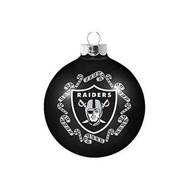Raiders Candy Cane Ball Ornament