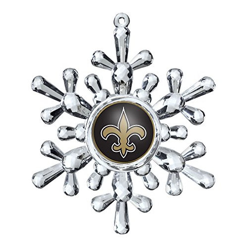 Saints Acylic Snowflake - Cut Crystal Design Ornament