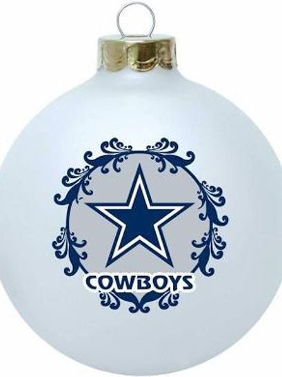Cowboys Large Ball Ornament