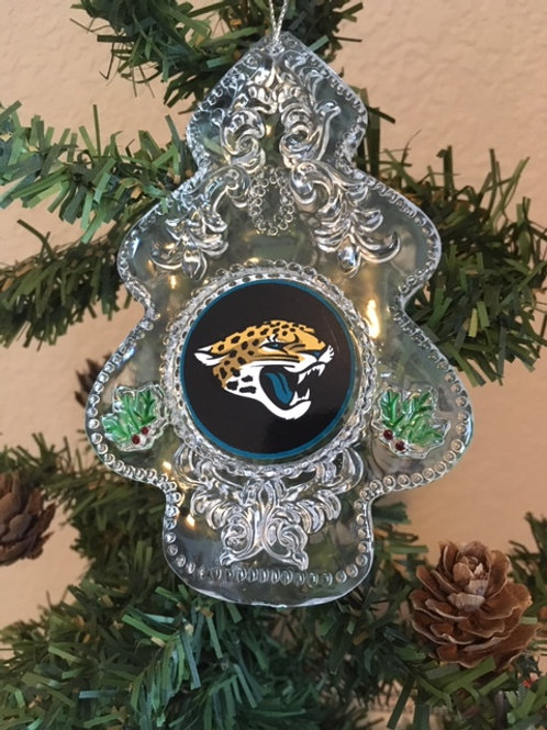 Jaguars Acylic Tree - Cut Crystal Design Ornament