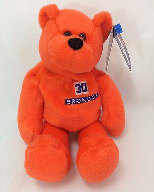 Denver Broncos Orange Plush Bear - #30 Terrel Davis