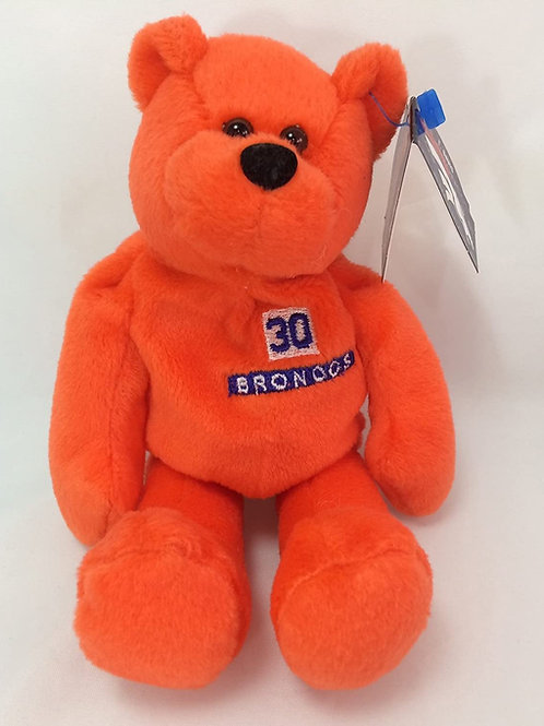 Denver Broncos Orange Plush Bear - #30 Terrel Davis