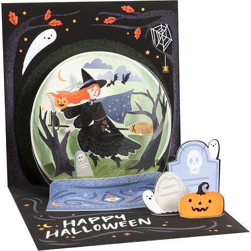Crystal Ball  .....  3-D Halloween Greeting Card