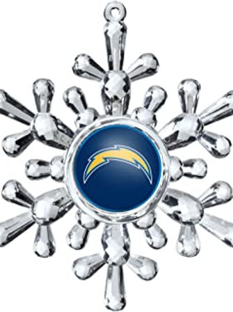 Chargers Acylic Snowflake - Cut Crystal Design Ornament