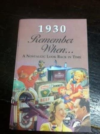 1930 Remember When Kardlet