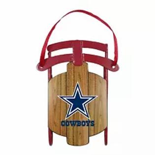 Cowboys Metal Sled Ornament
