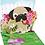 Thumbnail: Pug Bouquet ..... Mini Pop-Up 3D Card
