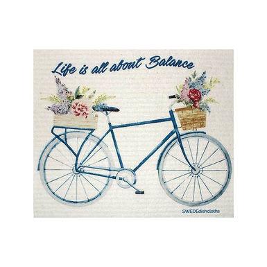 Life is About Balance Swedish Dishcloth