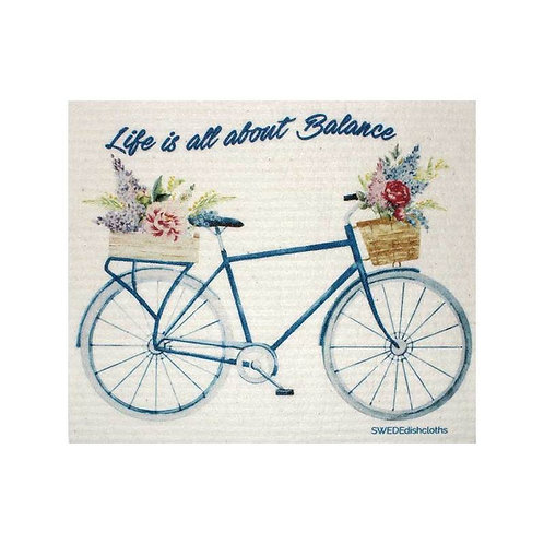 Life is About Balance Swedish Dishcloth