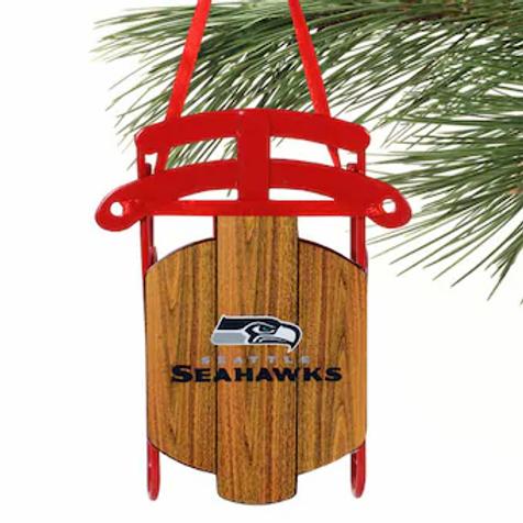 Seahawks Metal Sled Ornament