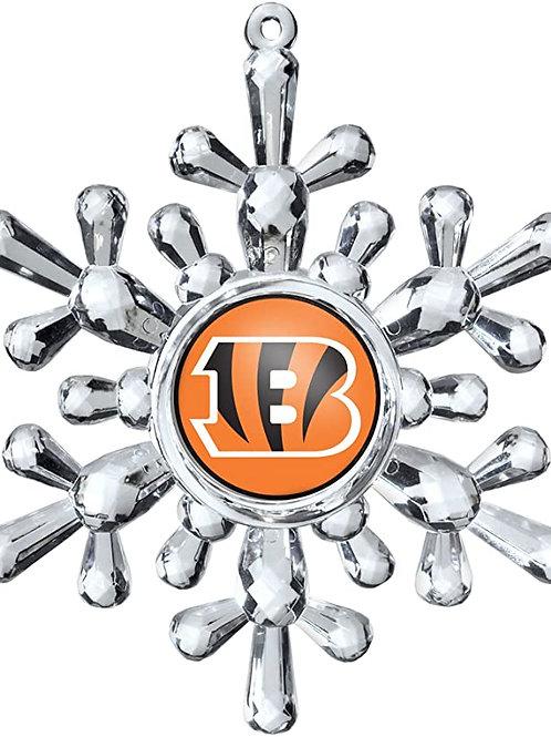 Bengals Acylic Snowflake - Cut Crystal Design Ornament