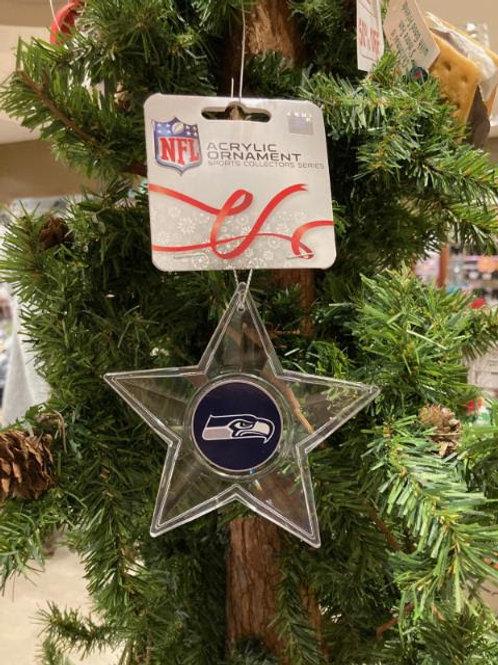Seahawks Acrylic Star Ornament