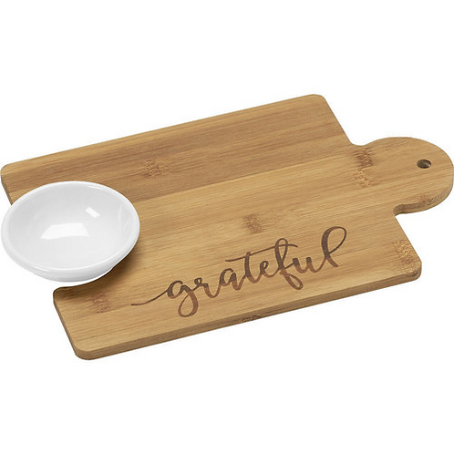 Grateful Cutting Board and Bowl