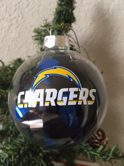 Chargers Tinsel Ball Ornament