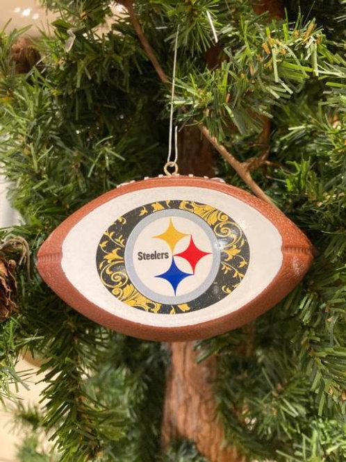 Steelers Replica Football Ornament