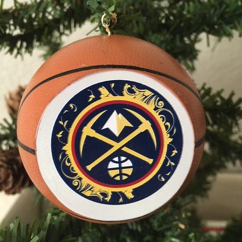 Nuggets Replica Basketball Ornament
