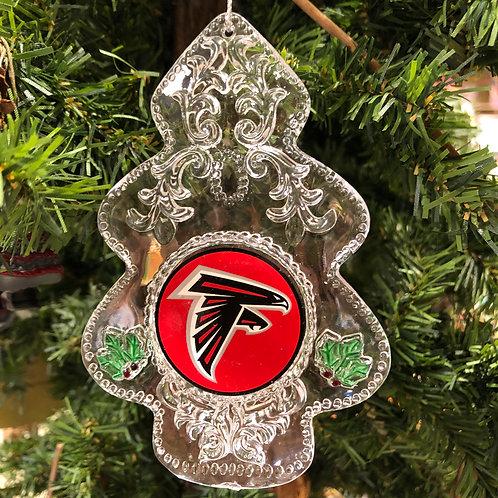 Falcons Acylic Tree - Cut Crystal Design Ornament