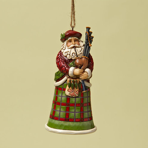 Scottish Santa Ornament