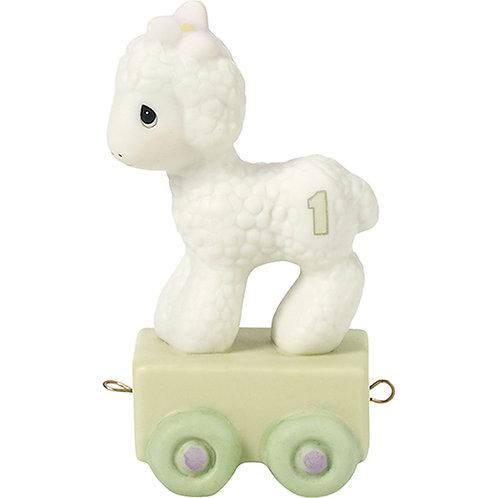 Age 1 Birthday Train ..... Happy Birthday Little Lamb