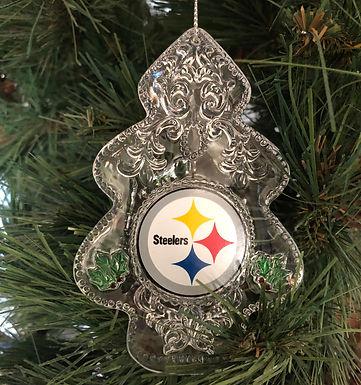 Steelers Acylic Tree - Cut Crystal Design Ornament