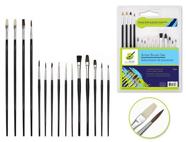 15 pc set brushes