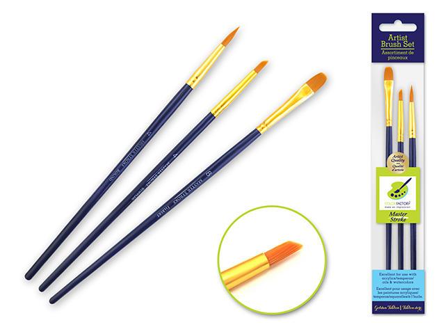 3 Pack Artist Paintbrush